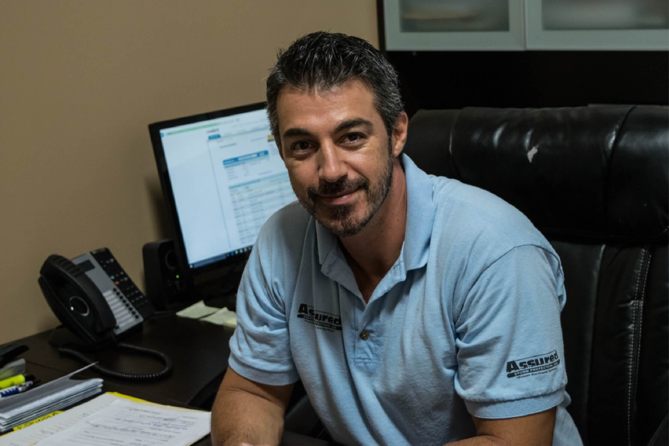 Massimo Foti, an owner of Assured Storm Protection