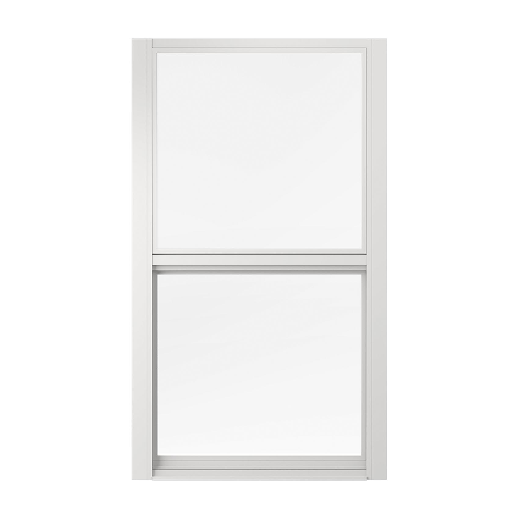 Single-Hung Hurricane Window -- A window with two panes of glass placed vertically-parallel to eachother.